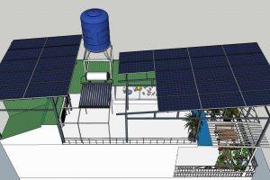 Hệ thống điện mặt trời hòa lưới 11kW tại Trung Văn, Hà Nội